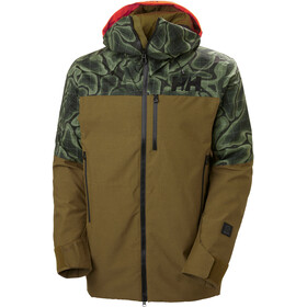 Helly Hansen Straightline Lifaloft Jacket Men, bruin/groen